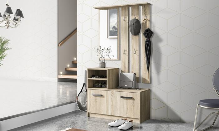 Set di mobili da ingresso amber groupon goods for Mobili per arredare casa