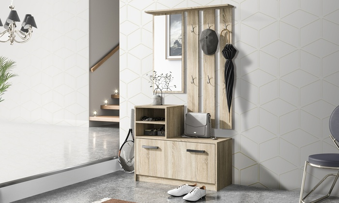 Set di mobili da ingresso amber groupon goods for Mobili x ingresso