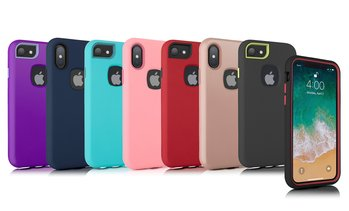 3-in-1 Slim Hybrid Full Body Protection Case for iPhone