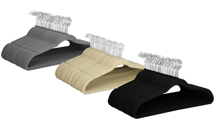 Velvet Non-Slip Space-Saving Hangers (25, 50, or 100-Pack)