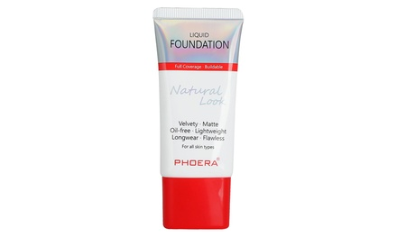 One, Two or Three 30ml Bottles of Phoera Full Coverage Foundation