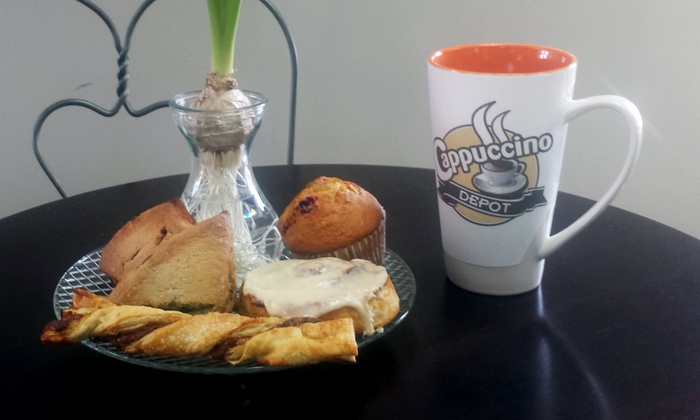 Cappuccino Depot - Multiple Locations: $12 for Four Groupons, Each Good for $5 Worth of Coffee & Pastries at Cappuccino Depot ($20 Total Value)