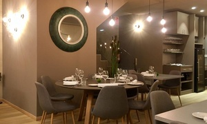 El Recetario: Menú degustación para 2 personas con 6 platos y bebida o botella de vino desde 36,95 € en El Recetario