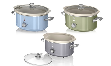 Swan 3.5L RetroStyle Slow Cooker in Choice of Colour