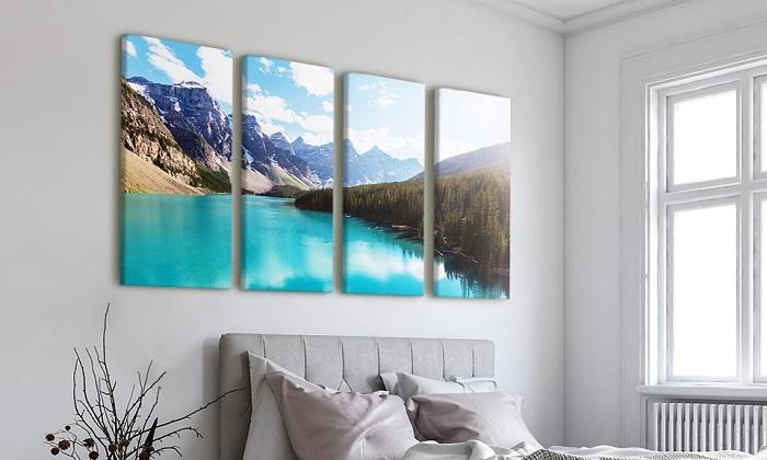 Image photo sur 4 toiles personnélisées àpd de format 120x40cm