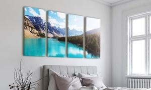 Photo.Gifts DCO: Gepersonaliseerde foto op 4 canvasdoeken in afmeting vanaf 120x40cm