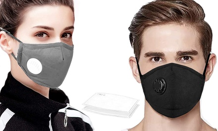 Reusable Face Mask with 10, 20 or 50 Filters