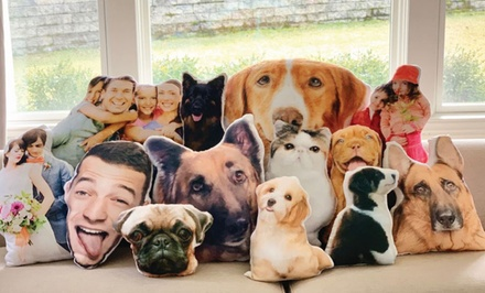 Personalized Cut Out Photo Throw Pillow from Monogram Online (Up to 53% Off). Two Options Available.