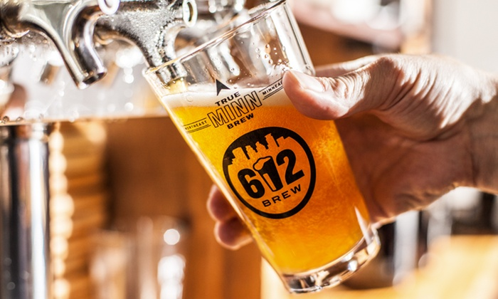 612 Brew - Northeast Park: Beer Package for Two or Four, or Five Groupons Good for Two Pints at 612 Brew (Up to 47% Off)