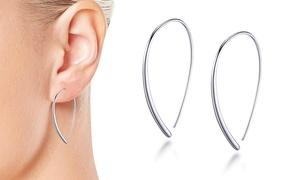 Boucles d'oreilles fil en argent sterling Philip Jones
