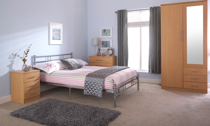 Recess Metal Bed Frame with Optional Mattress