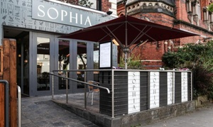 Sophia Restaurant Belfast: Two-Course Mediterranean Meal with Soft Drink for Two or Four at Sophia Restaurant Belfast (Up to 36% Off)