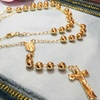 18K Gold Plated Rosary Necklace