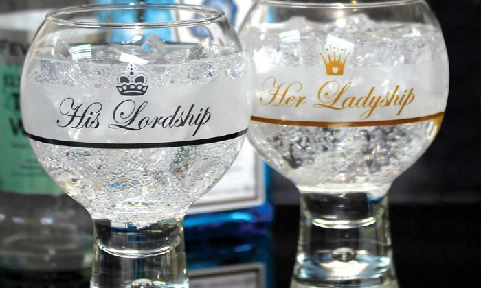 Up to Eight Durobor Alternato Ladyship or Lordship Bubble Base Gin Glasses from £9.98