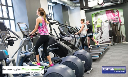 10 One-Day Gym Passes to énergie Fitness or Fit4less, Choice of over 60 Locations