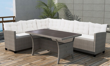12delige polyrattan loungeset