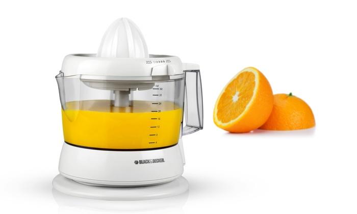 Electric Citrus Reamer ~ Black decker electric citrus juicer groupon