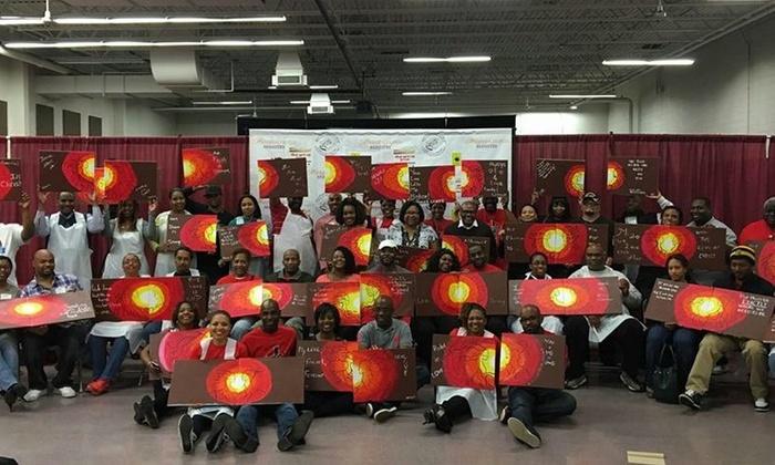 Family Paint And Sip Class Deja Hue Art Groupon