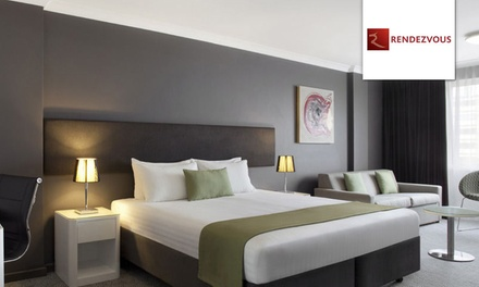 Perth, CBD: 1 or 2 Nights for Two with Breakfast and Wine at Rendezvous Hotel Perth Central