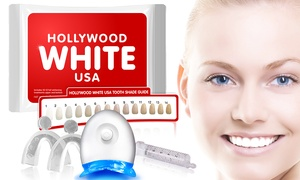 HollywoodWhiteUSA: $12.99 for a 3D Teeth-Whitening Kit with Lifetime Gel Refills at Hollywood White USA ($129 Value)