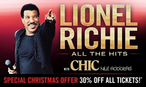 Lionel Richie - All the Hits: Lionel Richie: 30% Off Tickets, 29 March - 8 April 2018, Nationwide Tour