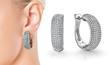 One or Two Pairs of Philip Jones Pave Hoop Earrings