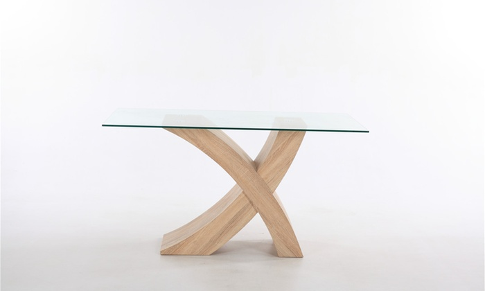 valencia glass top dining table
