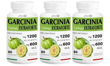 3 mesi di trattamento con Garcinia Cambogia Extra Forte, 180 compresse a 44,90 € con spedizione gratuita (83% di sconto)