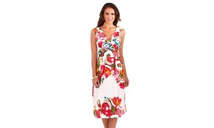 Floral Printed Cotton Summer Dress