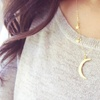 18K Gold Plated Moon and Stars Necklace
