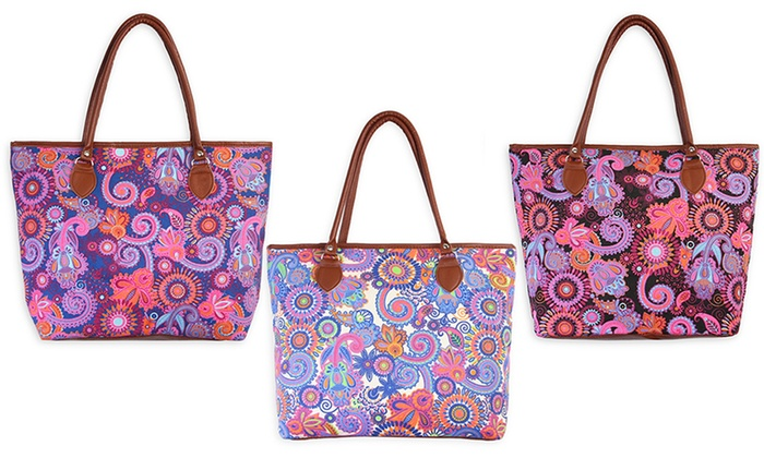 Colorful Paisley Tote