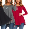 Isaac Liev Women's Flowy Tunic. Plus Sizes Available.
