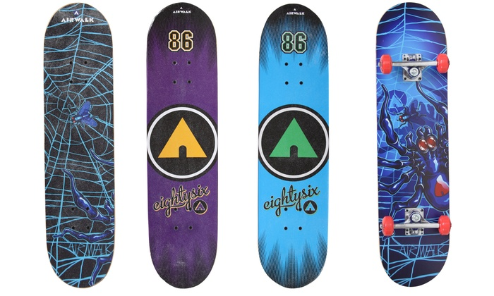 Airwalk Maple-Deck Skateboards and Longboards. Multiple Styles Available.