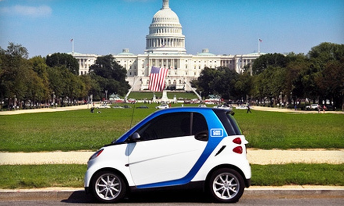car2go - Washington DC: $17 for Car-Sharing Registration and 60 Minutes of Driving to car2go (Up to $56 Value)