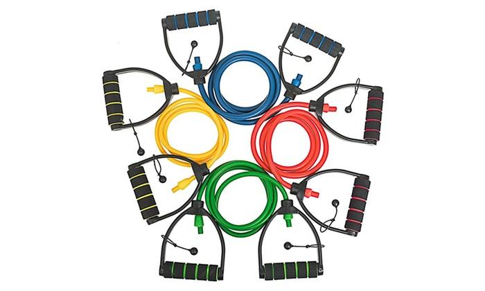 Bintiva Professional-Grade Individual Adjustable Extra-Long Resistance Bands