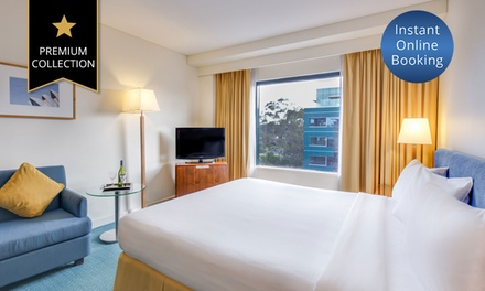 Sydney, Macquarie Park: 1, 2, or 3Night Mystery Hotel Stay with Wine, Late CheckOut, and Parking for up to Four People