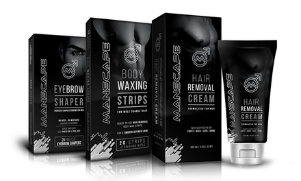 Manscape Male Grooming Wax Strips or Cream or Eye Brow Shapers
