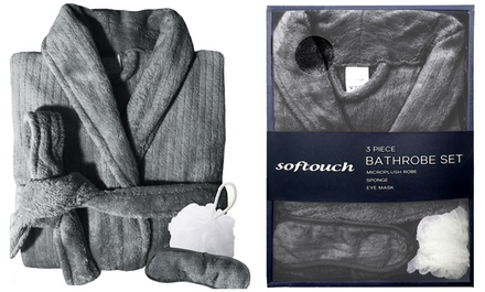 $29 for a Quick Dry Bathrobe with Sleeping Mask and Body Sponge Don't Pay $89