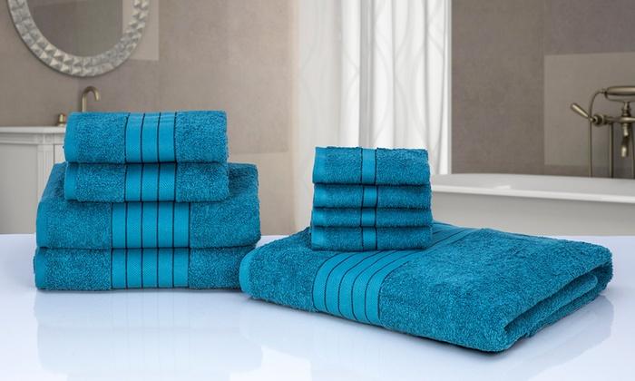 9 teiliges handtuch set groupon. Black Bedroom Furniture Sets. Home Design Ideas