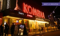 Krater Comedy Club and Burger Meal, 12 January - 26 March, Komedia Brighton (Up to 48% Off)
