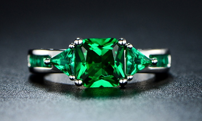 55% Off on 4.00 CTW Emerald Ring | Groupon Goods
