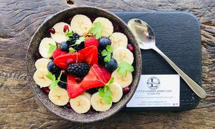 AllDay Breakfast with Coffee for One $14, Two $28 or Four People $56 at Little Corner Bondi Up to $90 Value