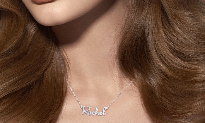 Monogram Online: Mini Name Necklace in Sterling Silver or Yellow or Rose Gold from Monogram Online (Up to 72% Off)