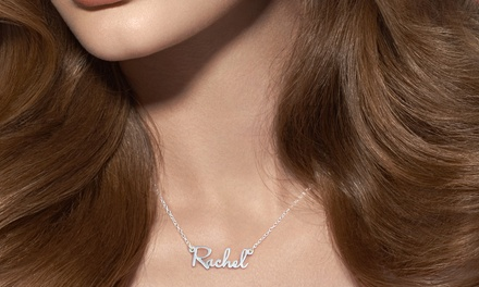 Mini Name Necklace in Sterling Silver or Yellow or Rose Gold from Monogram Online (Up to 72% Off)