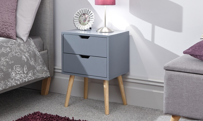 One or Two Skandi Pop Two-Drawer Bedside Tables