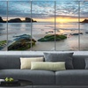 Extra Large 72x28 in Landscape and Cityscape Canvas Wall Art - 6 Panels