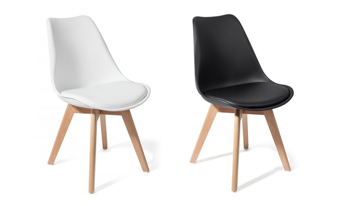 lot de 2 ou 4 chaises scandinaves brekka groupon. Black Bedroom Furniture Sets. Home Design Ideas