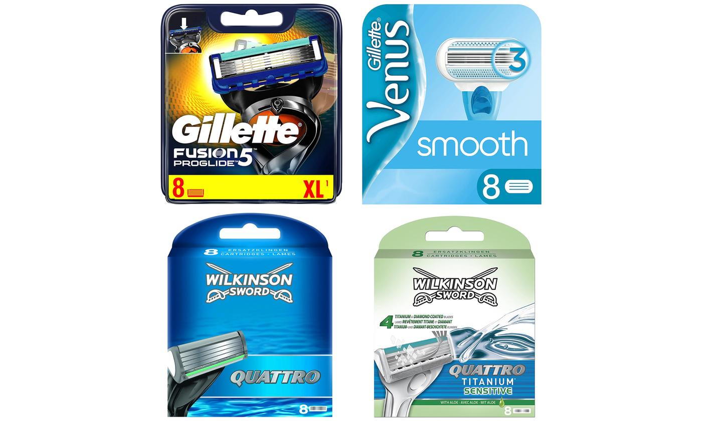 Eight-Pack of Gillette or Wilkinson Razor Blades