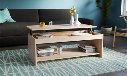 table basse relevable groupon shopping. Black Bedroom Furniture Sets. Home Design Ideas