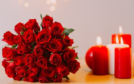 St Valentin ou pour le plaisir, 30 ou 100 roses rouges dès 29,90 € sur le site Les Fleurs de Nicolas